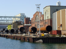 Varvsstaden är Kockums gamla varvsområde i Västra hamnen
