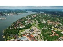 Agadepån är belägen på södra Lidingö