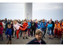 Rundt 400 samlet til åpningsfest i Roan vindpark