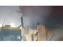 Rivning brandskadade delar Hackås skola