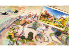 The new Dark Ride Underland – will be located where the Children's Theatre previously was located