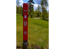 Laddstolpar för elbilar i Tällberg