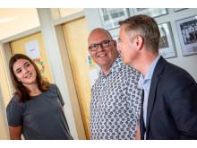 Tradiums direktør, Lars Michael Madsen, var også mødt op for at lykønske den nybagte student