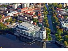 Karlstad Congress Culture Centre flygfoto