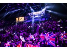 Echo Arena i Liverpool var fyldt med mere end 3.500 STIHL TIMBERSPORTS®-fans og stemningen var helt i top.