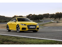 TTS Coupe yellow front right side static