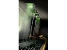 Gessis duschar med varierande ljus för välmående och avkoppling
