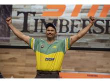 Laurence O'Toole er STIHL TIMBERSPORTS® individuelle verdensmester for første gang i sin karriere.