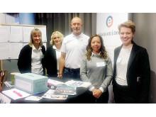 Anna Ingvarsson, Ulrika Åberg och Peter Eklund på EkonomiNord tillsammans med Lucy Rist och Anna-Karin Waenerlund på Girls in Sport