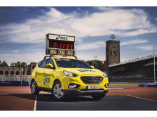 Hyundai ix35 Fuel Cell - Ledarbil på Stockholm Marathon 2016