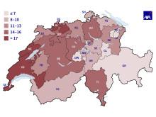 Heatmap Einbruch: In diesen Kantonen wird am häufigsten eingebrochen.