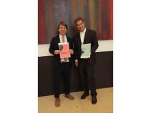 Daniel Schmalley, Leiter Kompetenzcenter Firmenkunden Barmenia mit Phillip Schilling, Geschäftsführer der Agentur Track