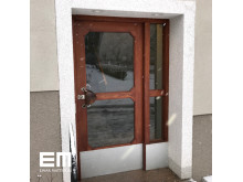 Renoverad dörr i Bagarmossen