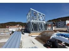 Byggingen av hus på kjøpesenter