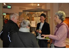 Project developer Helen with visitors at the John Gray Centre