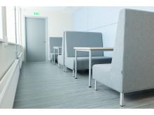 Korridor med studieplatser