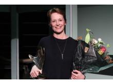 Kulturdirektør i DR Tine Smedegaard Andersen modtager Artbeat Prisen 2018 på vegne af Historien om Danmark