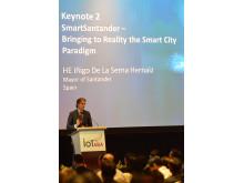 HE Iňigo De La Serna Hernaiz, Mayor of Santander, Spain speaks at the Smart City Forum, Internet of Things Asia 2014