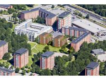 Parkhusen Larsberg - visualiering av Sweco architects