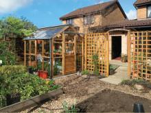 Classic greenhouse six i cederträ
