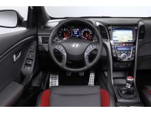 Nye i30 Turbo interiør
