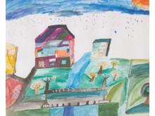 Det blivande Kulturkvarteret målat av Soumy Duche