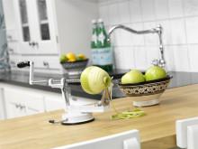 Äppelskalare vit i kök
