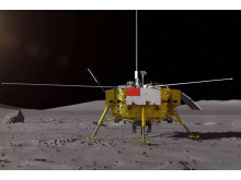 Den kinesiska månlandaren Chang'e-4. Foto: CNSA