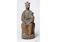 Madonna med barnet, 1250, træfigur fra Løsning Gamle Kirke - Danmarks Kirker