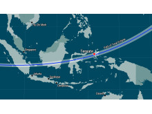 Panasonic Eclipse Live by Solar Power 2016 - Map of Ternate