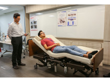 Reysone, an electric care bed is also tested at Changi General Hospital
