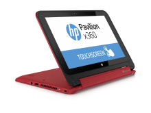 HP Pavilion x360 stand mode Right facing red
