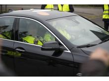 Kungen åkte själv i den autonomt styrda bilen