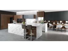 Schmidt køkken moderne egetræ marmor