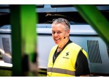 Elektriker Einar Berger har lang erfaring med nattarbeid