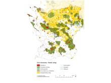 Karta över de mest värdefulla ädellövskogarna i Skåne