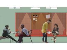 Studierum på Furutorpsparkens studentboende