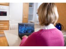 e-rehab, patient rehabiliterar i hemmiljö på distans