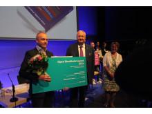 Sten Nordin vid prisutdelning Open Awards 27 maj 2014