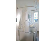 Duschpflegetür ausgeklappt