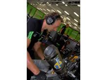 Zekler hörselskydd i Superbike-depå