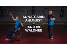 Anna-Carin Ahlquist utmanade Jan-Olov Waldner