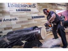 Jason Wynyard världsmästare Timbersports 2017