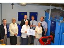 Gasinbetriebnahme und Spendenübergabe im Kloster Strahlfeld
