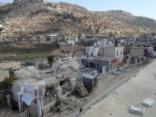 Shiara-sjukhuset i Razeh-disktriktet efter attacken den 10 januari 2016.