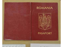 Cover of Romanian passport recovered during the operation.