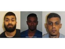 Three convicted men