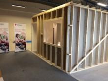 Salmo Salar, visningslägenhet uppbyggd i lagerlokal