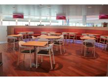 """Das Restaurant auf Scandlines' neuer Hybridfähre """"Berlin"""""""