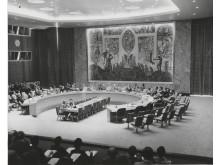 Sikkerhetsrådets sal, 1952, arkitekt Arnstein Arneberg.